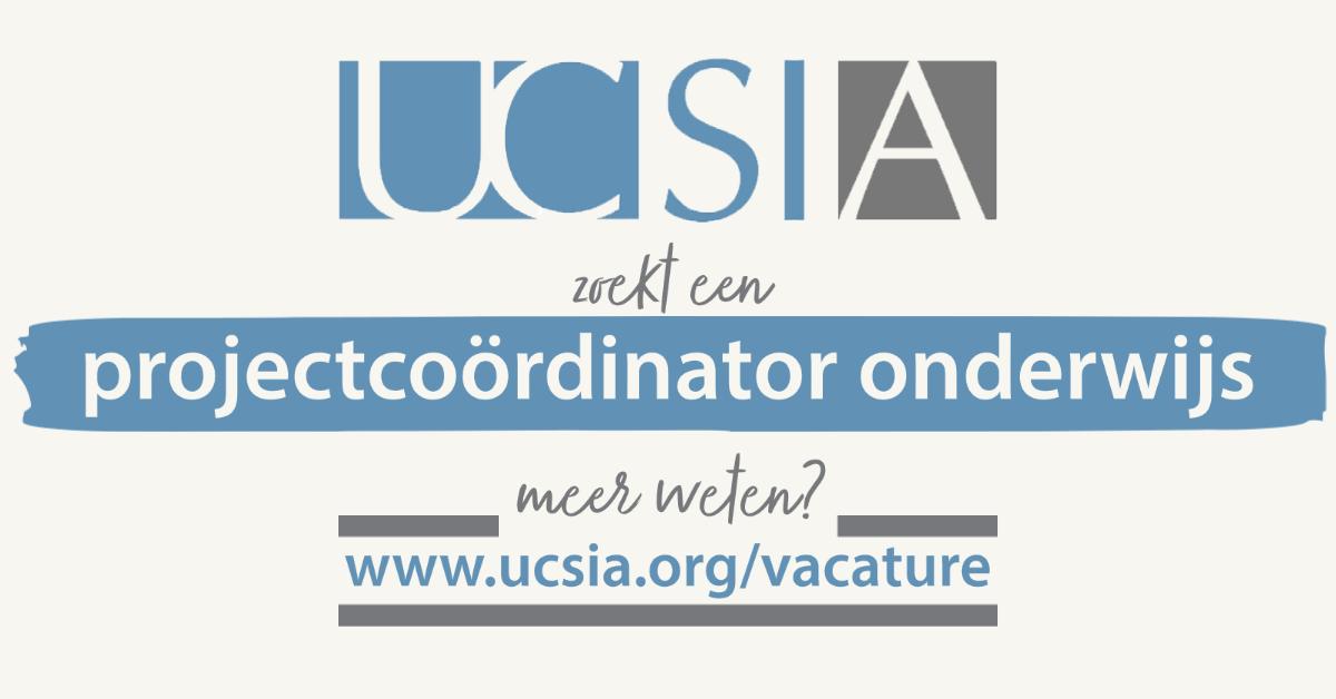 vacature UCSIA projectcoördinator onderwijs